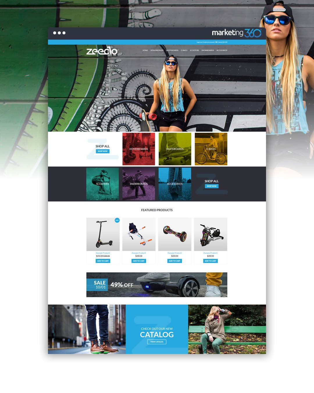 eCommerce website design of the day by eCommerce Marketing 360 ...