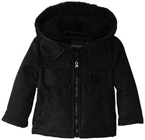 854970179 London Fog Boys Hooded Faux Wool Coat   Review more details ...