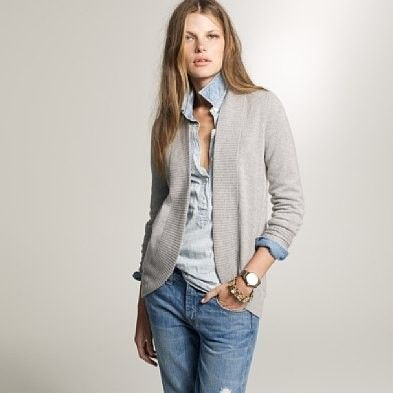 Cashmere open cardigan by j crew by goldie | Fashion Inspiration ...