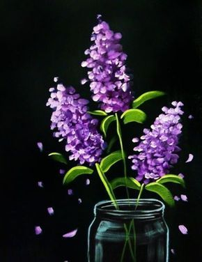 80 Easy Acrylic Canvas Painting Ideas For Beginners Black Canvas Paintings Flower Painting Canvas Art Painting