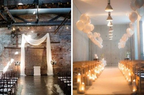 When I started researching 'Industrial Chic', which as you all know is our theme for April, one of the things I noticed is how many absolutely gorgeous ceremony spaces had been created …