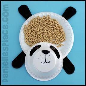 Panda Bear Craft - Snack Dishes from .daniellesplace.com & Panda Bear Craft - Snack Dishes from www.daniellesplace.com | Animal ...
