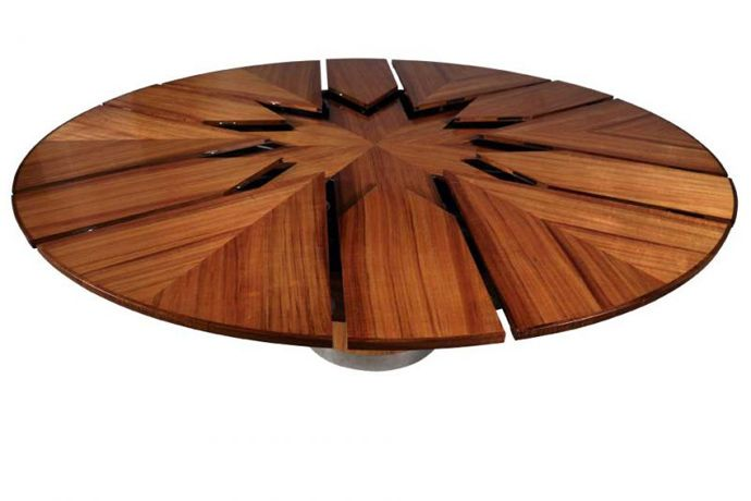 Lovely $50,000 For Fletcher Capstan Table  Automatically Expands From A Small Size  To A Larger One