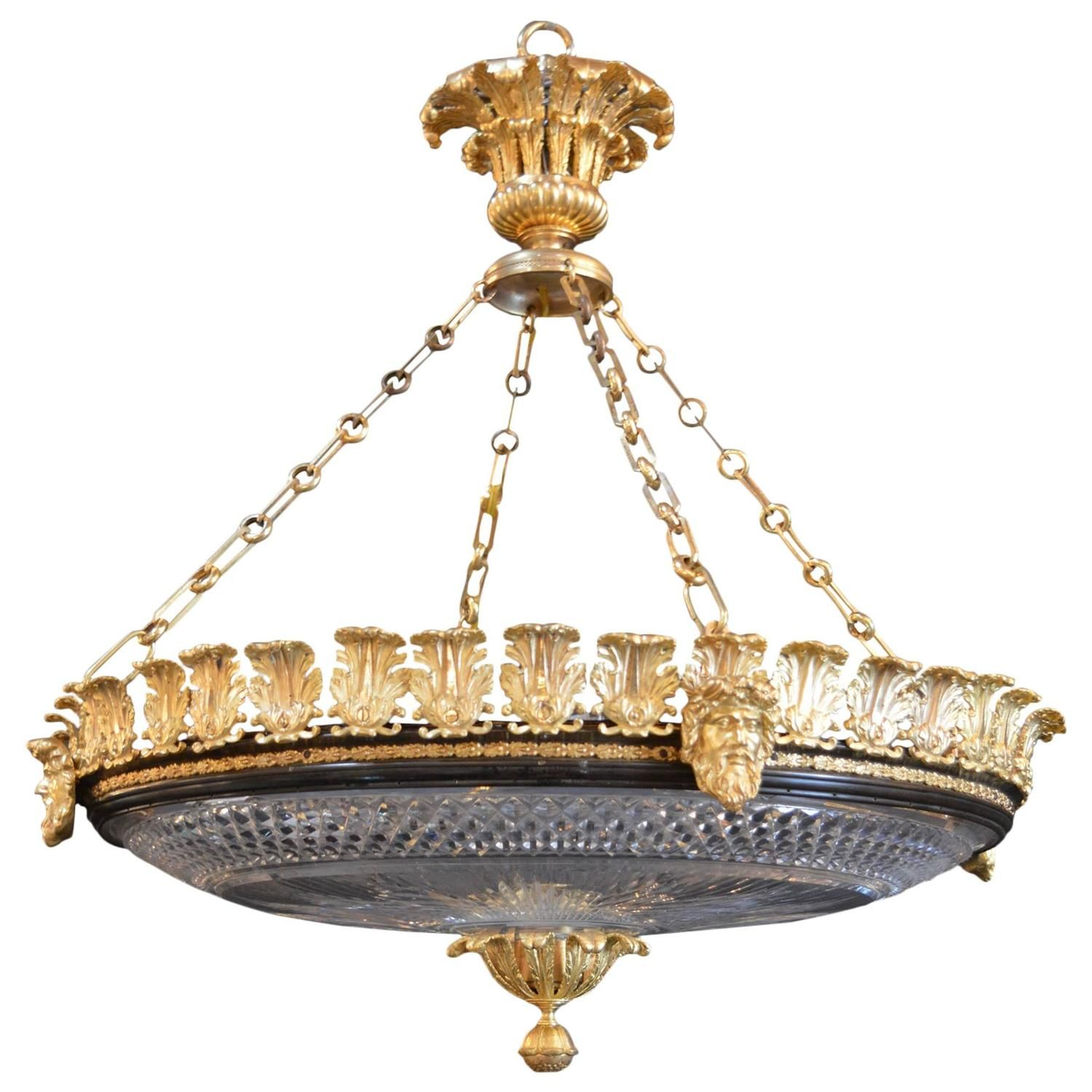 French Empire Pendant Chandelier