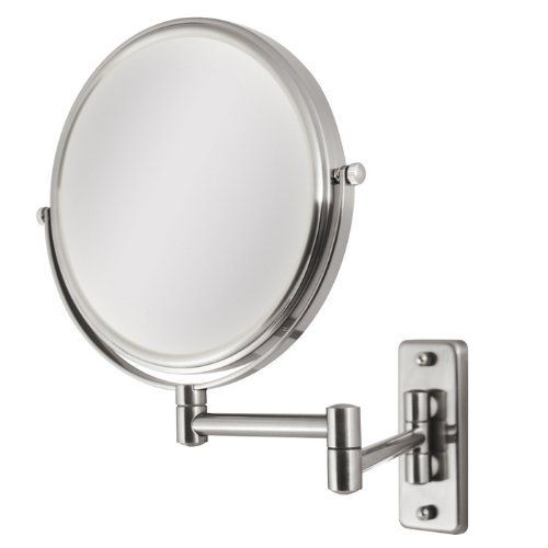 Zadro Chrome Dual Sided Dual Jointed Magnifying Wall Mount