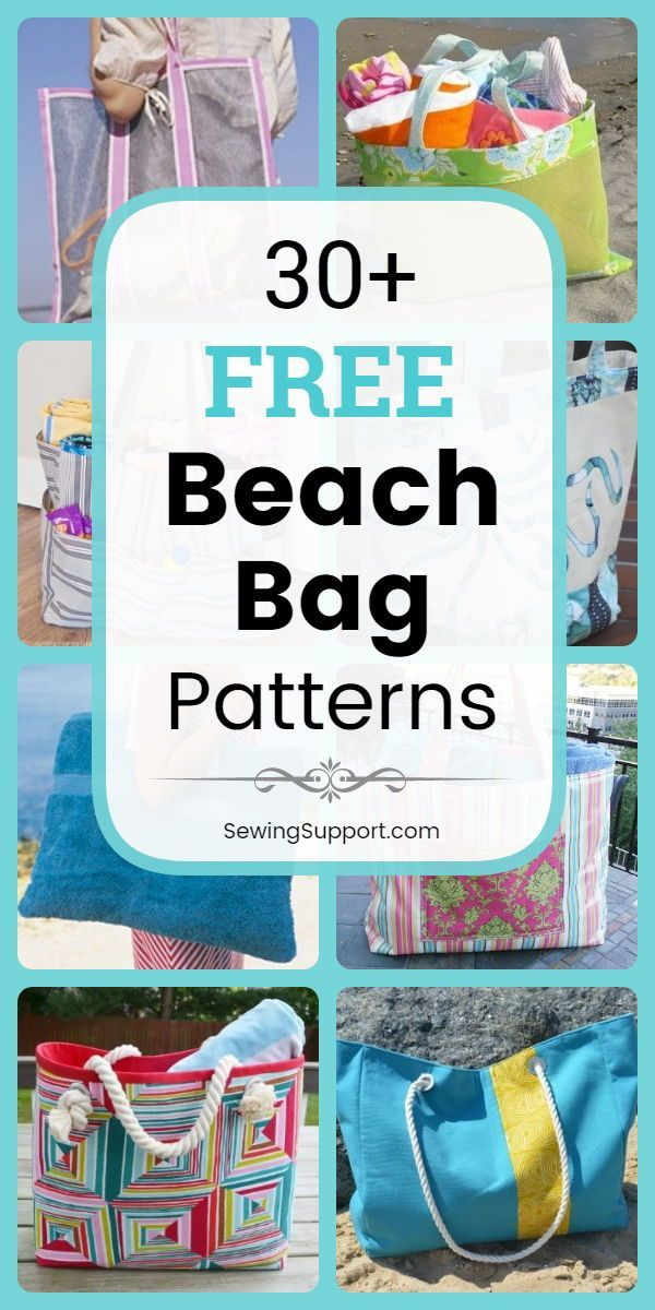 22 Free Beach Bag Patterns #bagpatterns