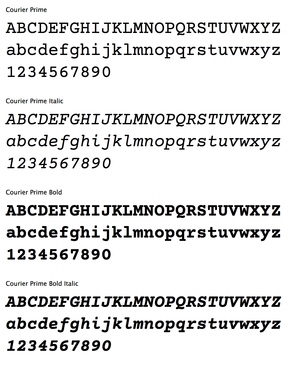Courier Prime  Free download  The Courier typeface was