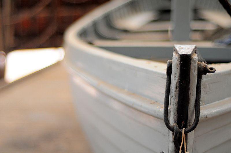 A small boat at the Historic Dockyard, Chatham