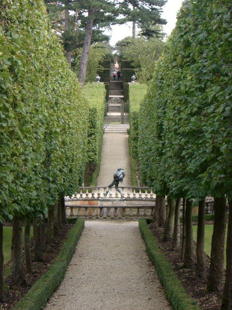 Buscot Park Faringdon Oxfordshire Rows Of Trees With High Clipped Trunks Gorgeous Gardens Famous Gardens Garden Visits