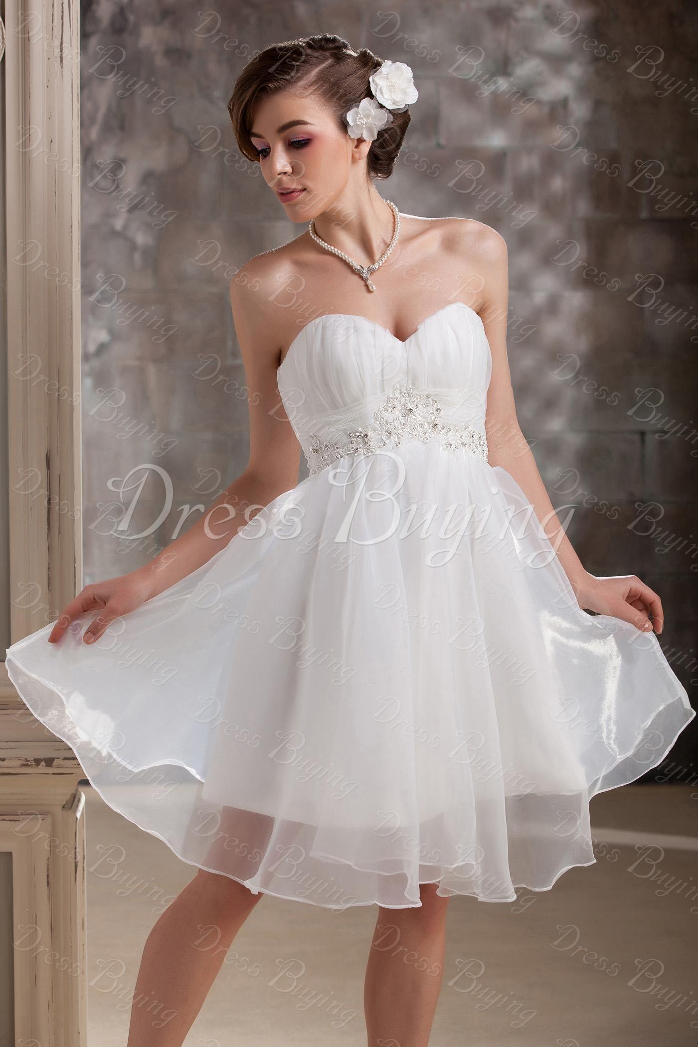 Attractive aline shortmini sweetheart dariaus wedding dress