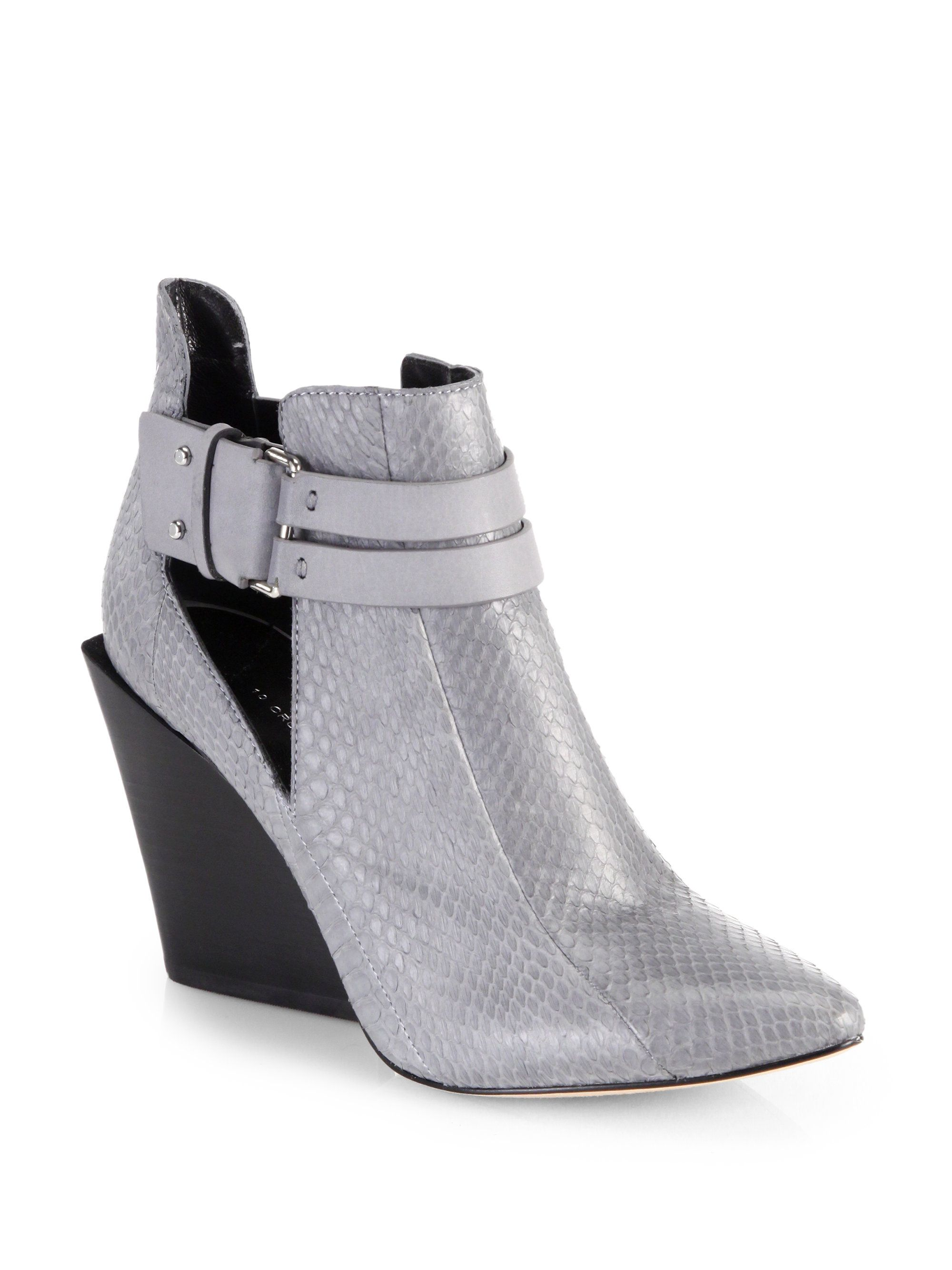 Derek Lam 10 Crosby Embossed Patent Leather Wedges cheap prices Cheapest cheap online 2014 unisex cheap online low price fee shipping sale online R8iIyuX