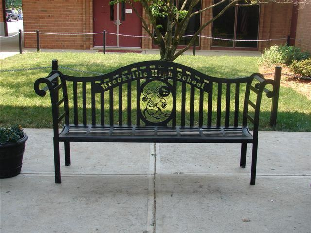 Savannah Style Bench With A School Mascot And School Name It Can Be Customized To Include Your Company Name Custommetalbench Bench Outdoor Decor Commercial Furniture