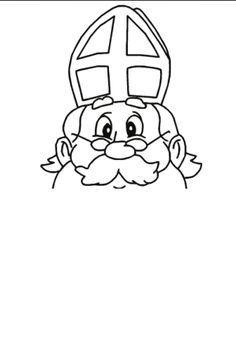 afbeeldingsresultaat voor gezicht sinterklaas zonder baard