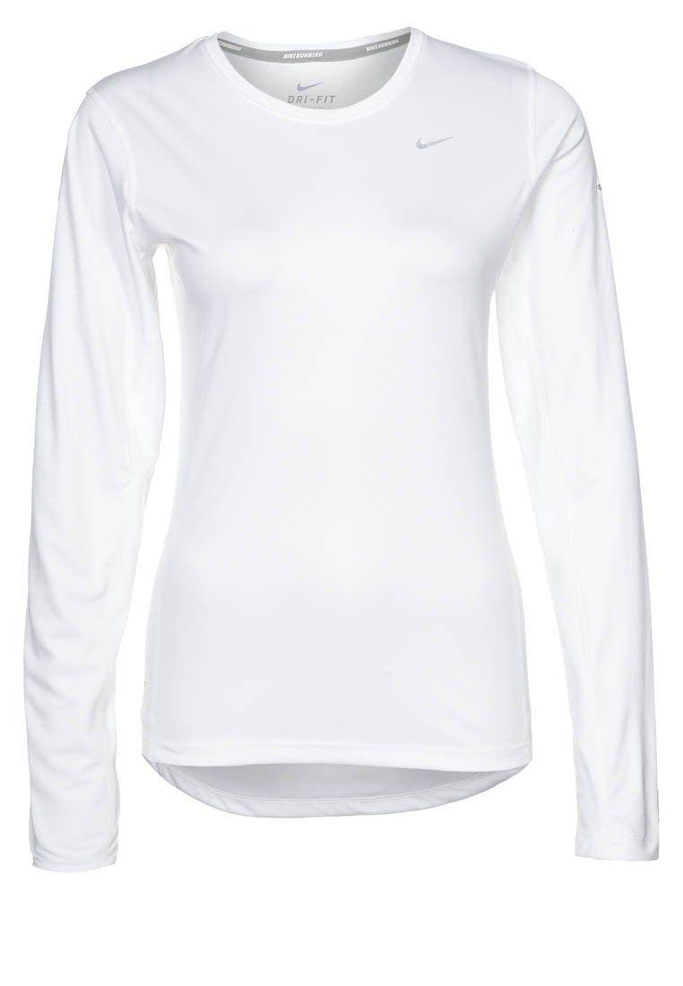 Nike Performance - MILER - Pitkähihainen paita - valkoinen