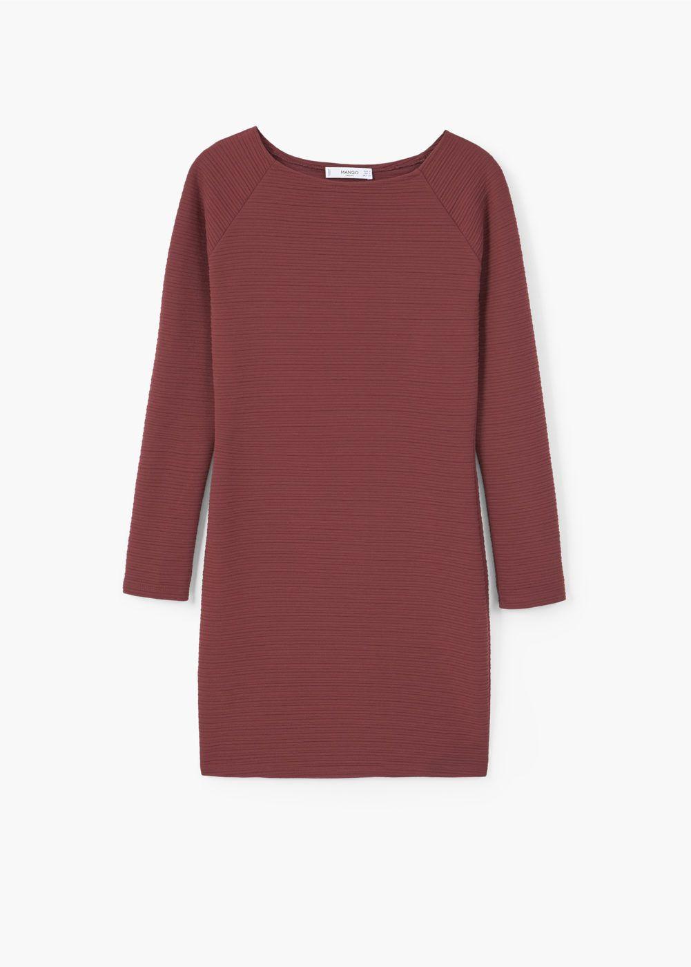 Schmales, strukturiertes kleid - Damen   strukturiertes Kleid ... b2cddecdd3