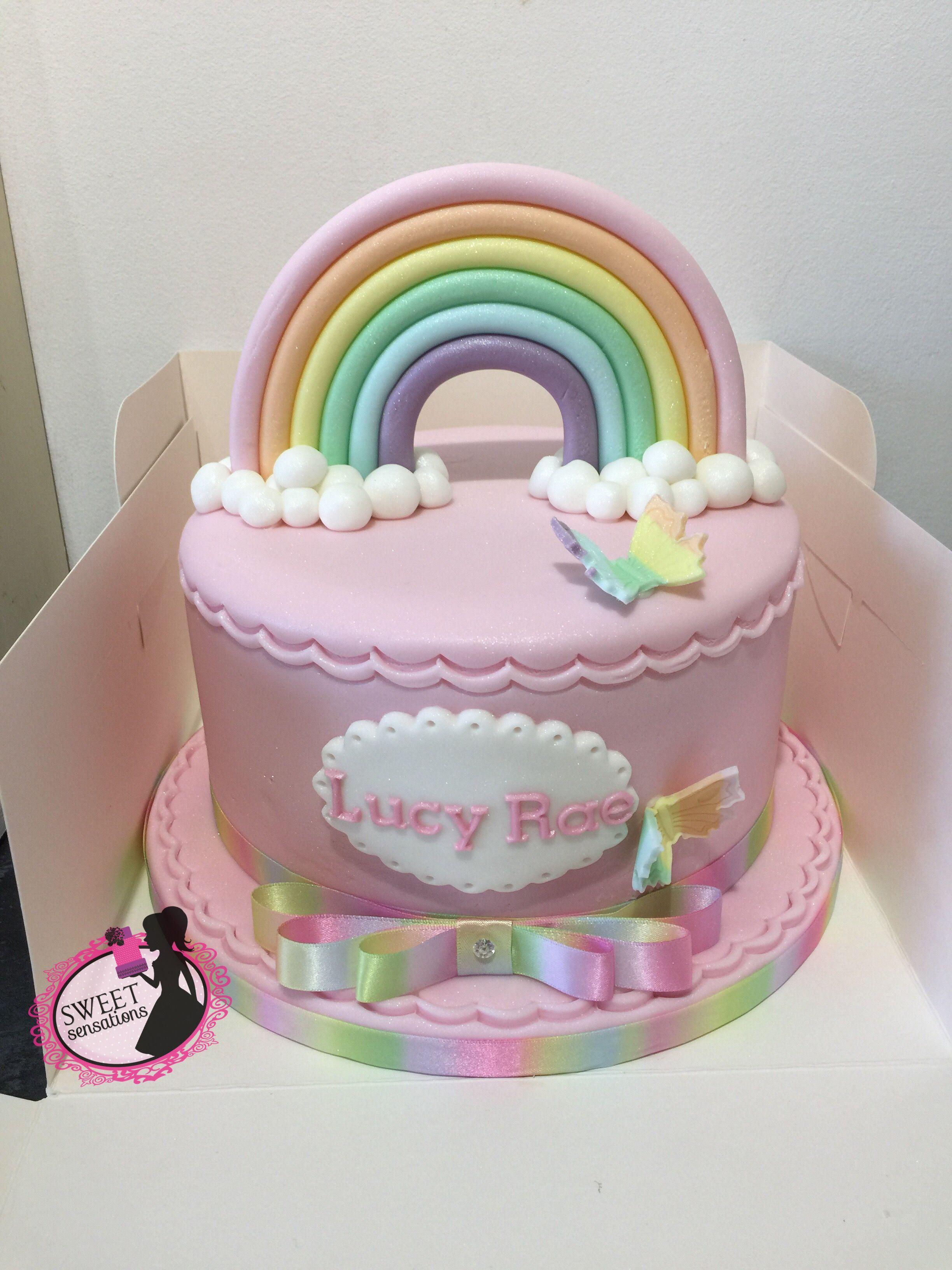 Rainbow Cake Rainbow Cake Butterfly Cakes Cake