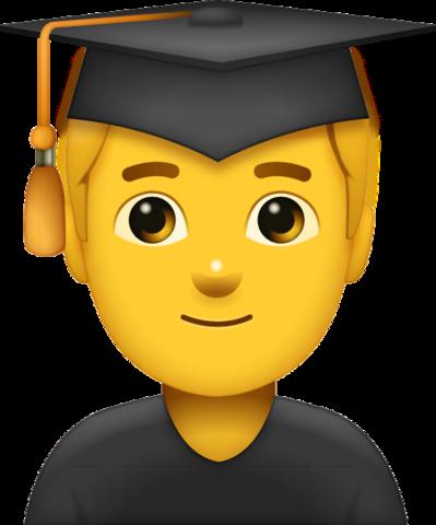 Graduated Man Emoji Emoji Cool Emoji Smiley Emoji
