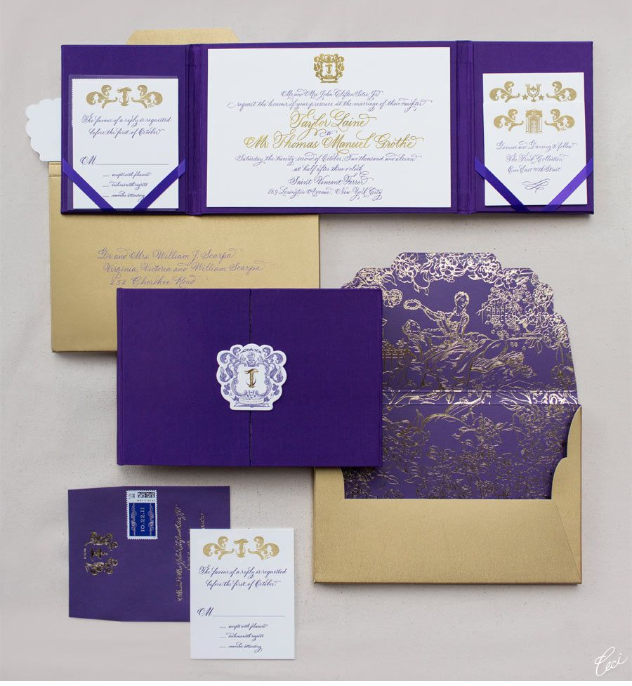 Luxury Wedding Invitations By Ceci New York Our Muse Luxurious Regal Be Inspired Taylor Thomas S