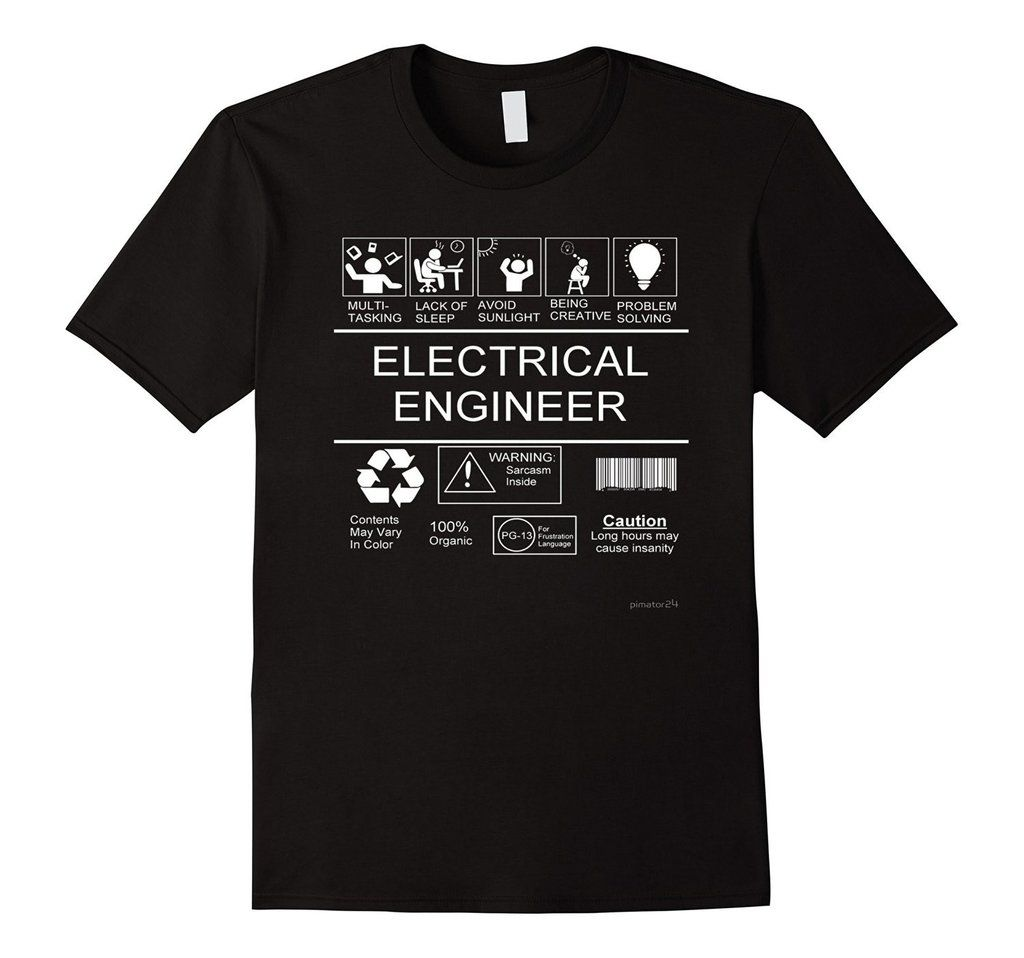 Electrical Engineer T Shirt - Gifts for electrical engineers