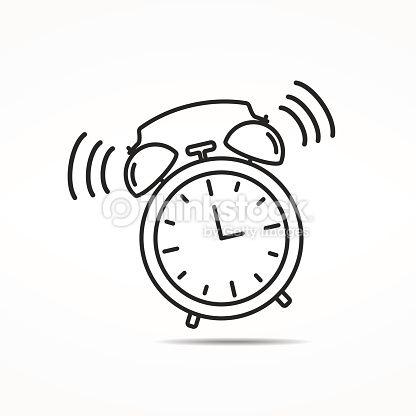 Arte Vectorial Icono De Reloj Despertador Reloj Despertador Reloj Relojes Dibujo