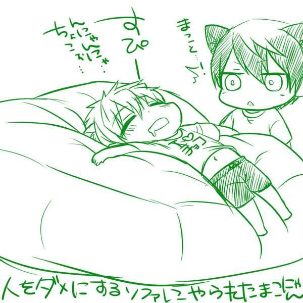 Makoto and Haru   Free!