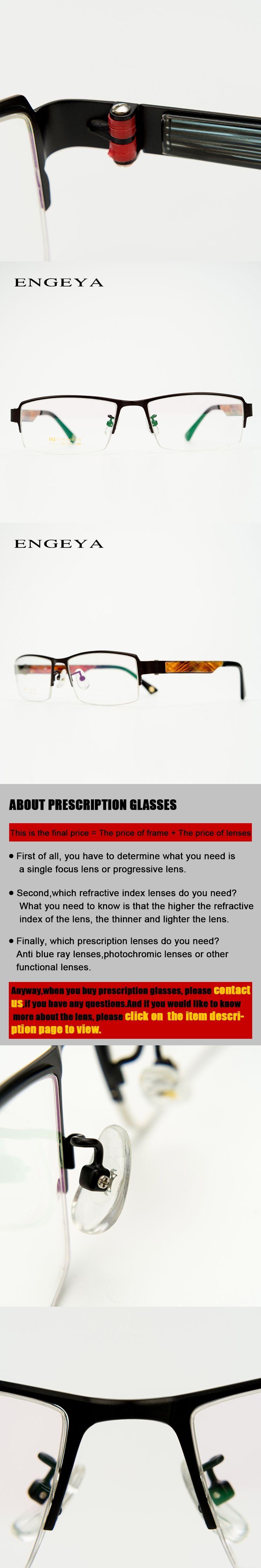 467cdd2550 Metal Clear Prescription Men Eye Glasses Half Rim Brand Designer Optical  Computer Diopter Glasses  IP6003