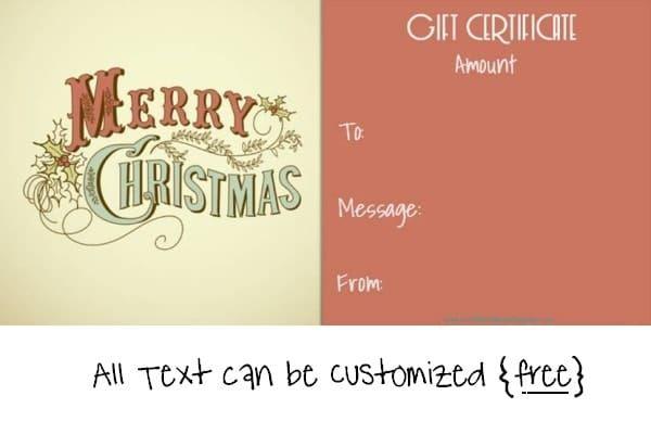 Christmas Gift Certificate Templates kkkkk Pinterest Gift - cute gift certificate template