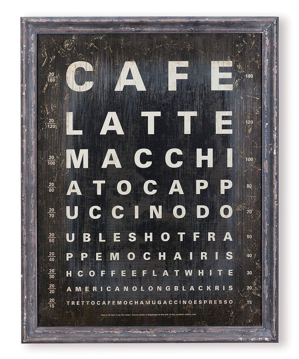 Cafe Latte eye chart | wall art |  Product Design ...