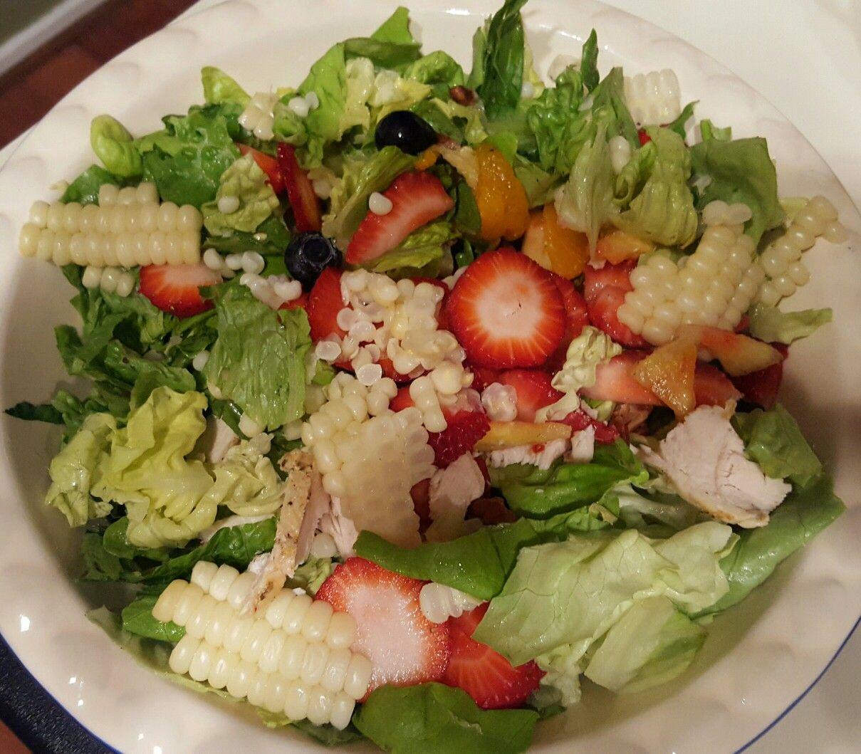 Corn salad with vinaigrette