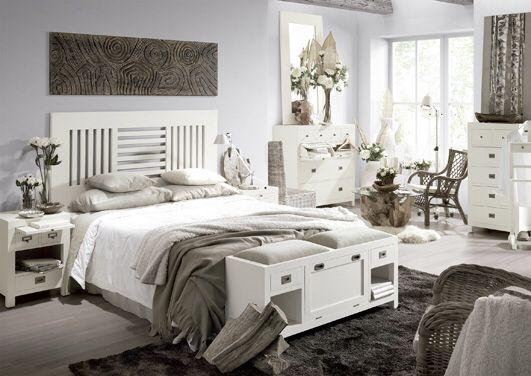 Camas y dormitorios tapizados ALMERIA Plata. Cabeceros y camas de ...