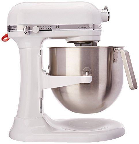 Kitchenaid Rksm8990wh 8 Quart Refurbished Commercial Countertop Mixer 10 Sd Gear Driven White