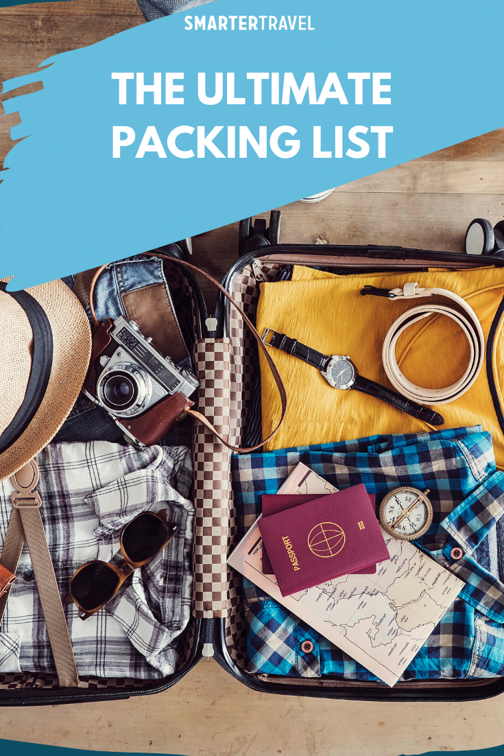 The Only Travel Packing Checklist You Ll Ever Need Smartertravel Ultimate Packing List Packing Checklist Packing List