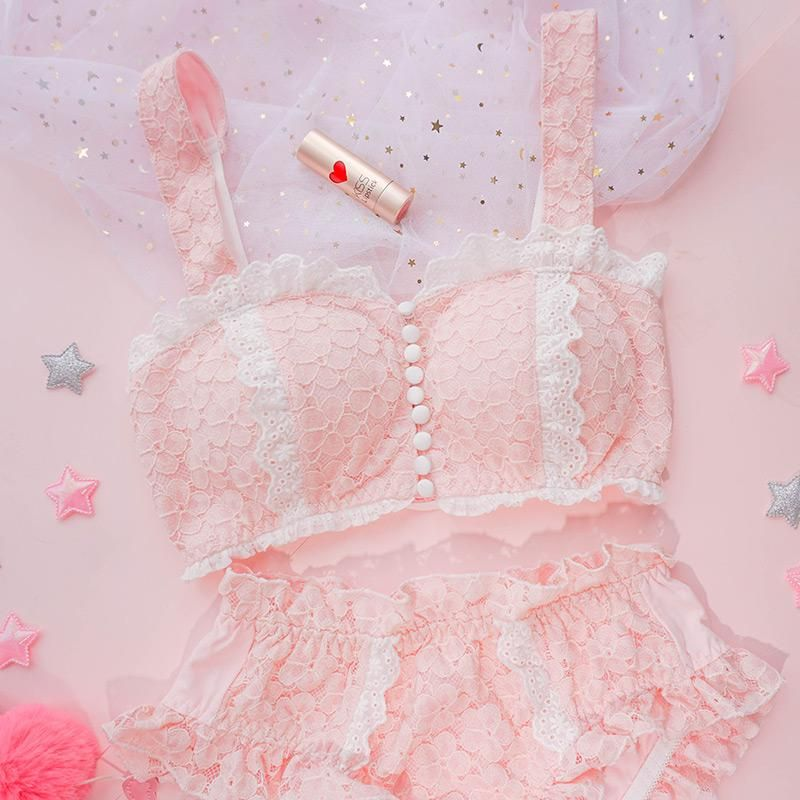 199395ceacb Japanese cute lace underwear set YV40494 in 2019