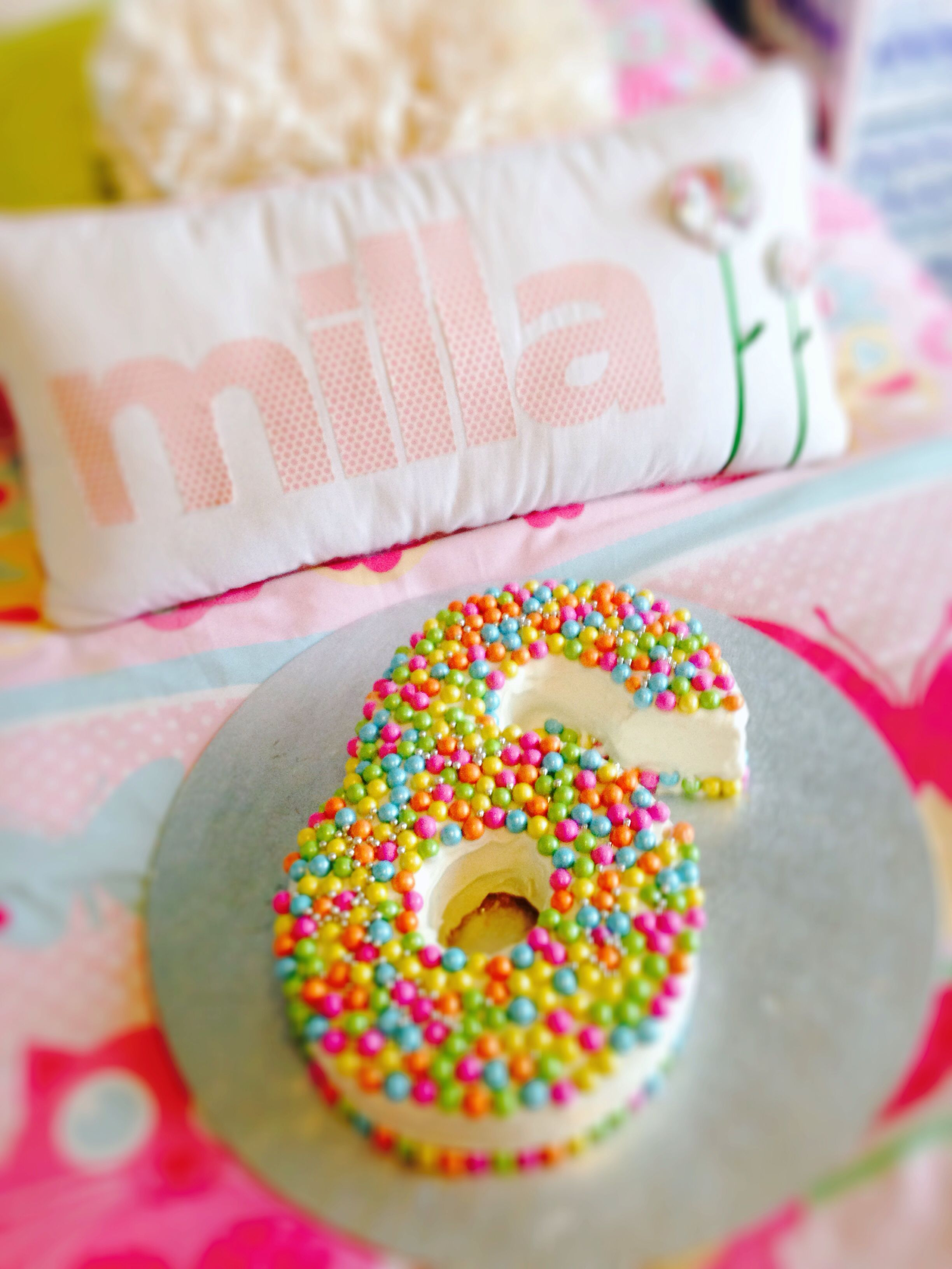 Pretty Girls Number 6 Birthday Cake For My Milla