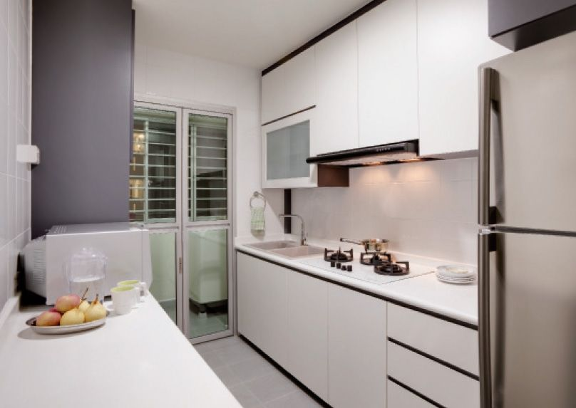 Vanilla essence by classic ideas design and build for Kitchen design for 5 room hdb flat