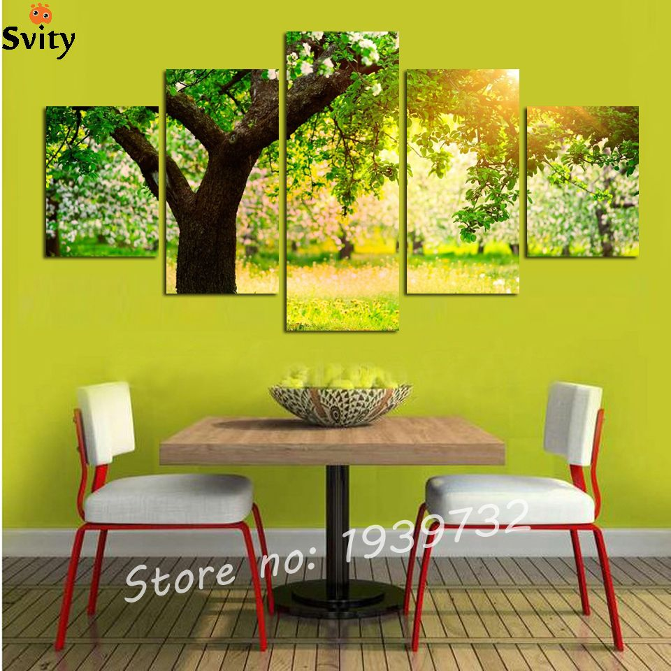 5 shipping home decorative painting mural art canvas painting park ...