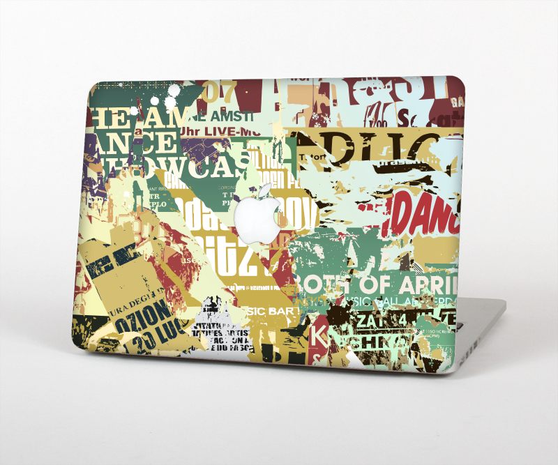The Torn Magazine Collage Skin Set for the Apple MacBook
