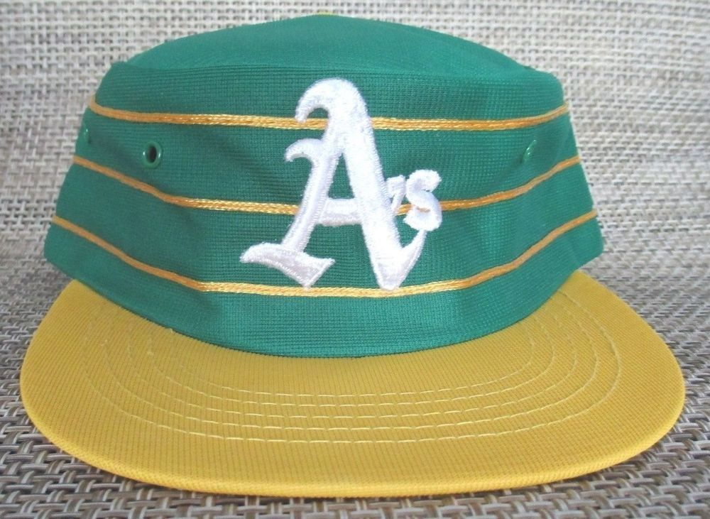 c6b11ca77 VTG 70s 80s Oakland Athletics A's Pillbox Snapback Hat SPORTS ...