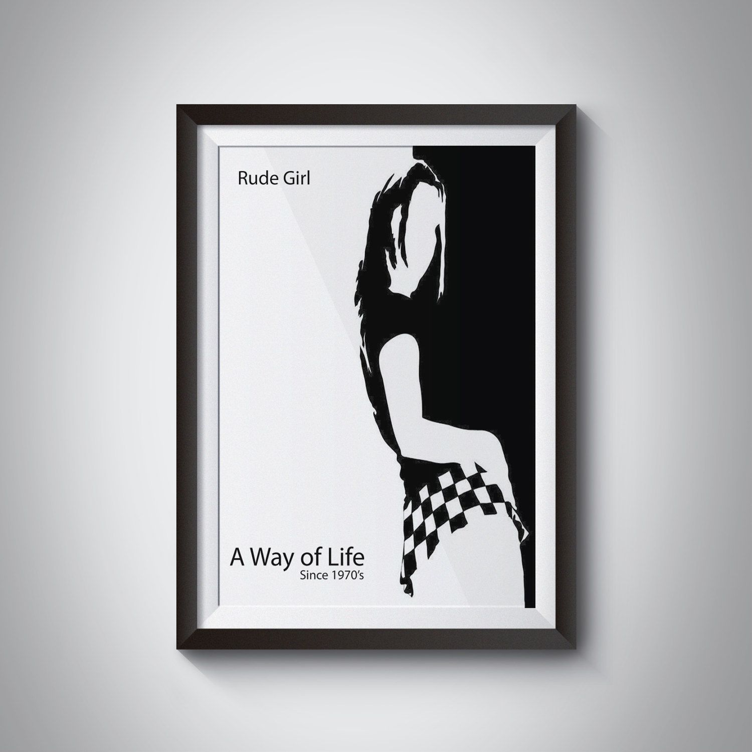 Digital Download, Ska Girl, Ska Print, Ska Wall Art, Ska Wall Decor, Ska Scene, Rude Boy, Northern Soul, Ska Definition, Rude Girl, Music by JKDigitalDesign on Etsy