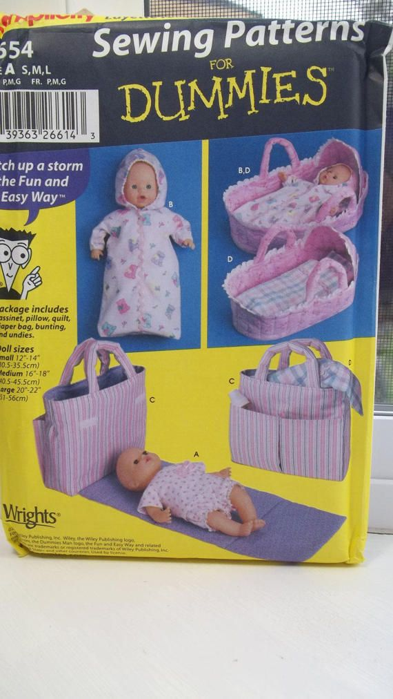 Sewing For Dummies Baby Doll Clothes Simplicity 5554 Sewing Pattern