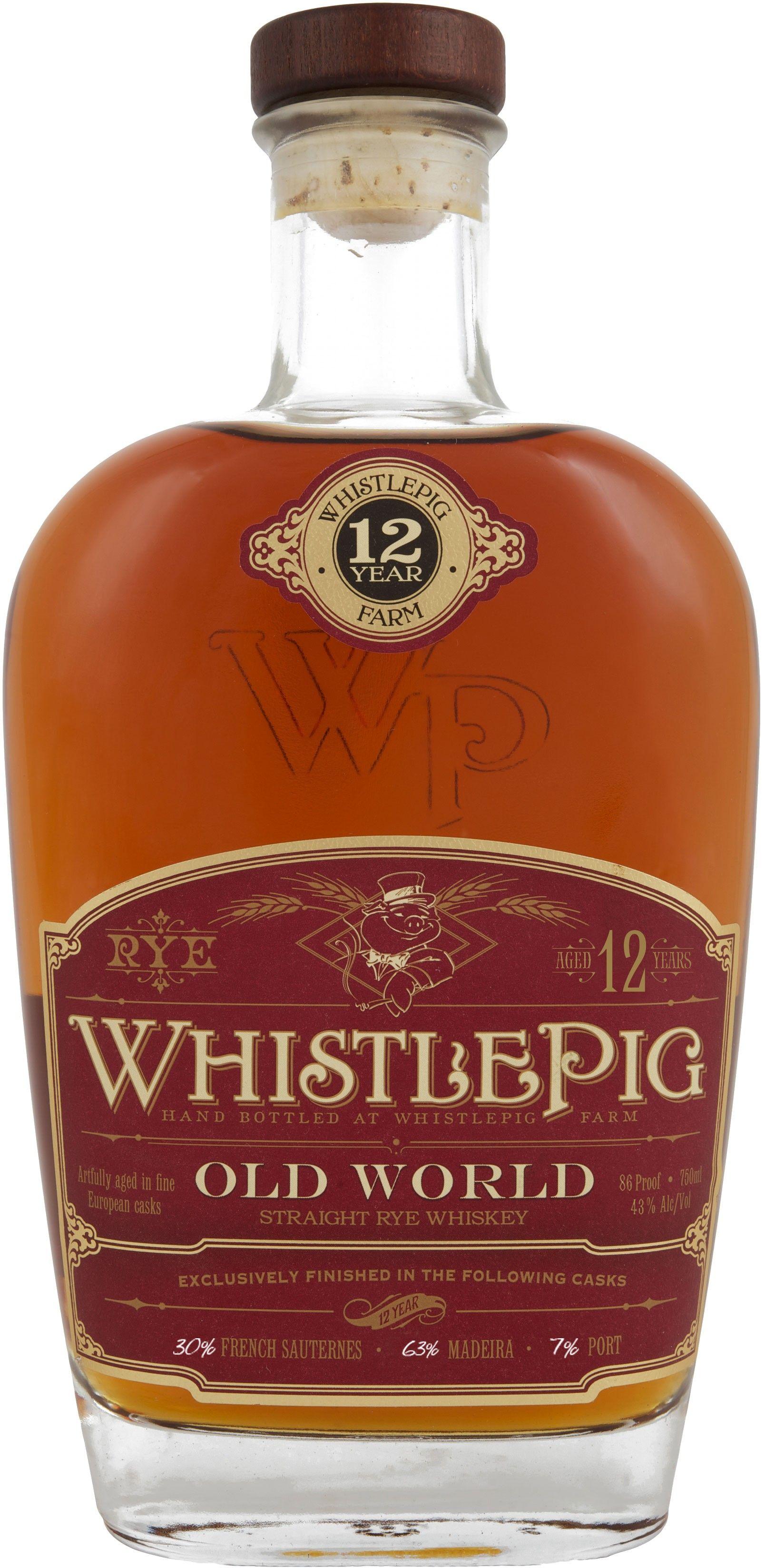 Whistlepig Old World 12 Year Old Straight Rye Whiskey Whiskey Rye Whiskey Wine Cask