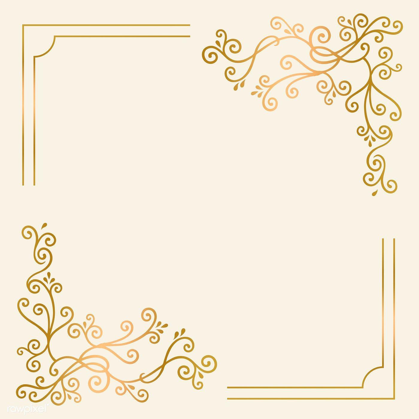 Golden Vintage Ornament Frame Vector Free Image By Rawpixel Com Filmful Vintage Frames Vector Ornament Frame Vector Free