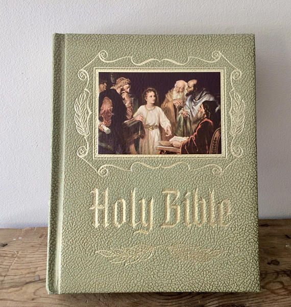 Presentation holy bible green illustrated master reference presentation holy bible green illustrated master reference edition king james version first communion holy confirmation gift free ship negle Choice Image