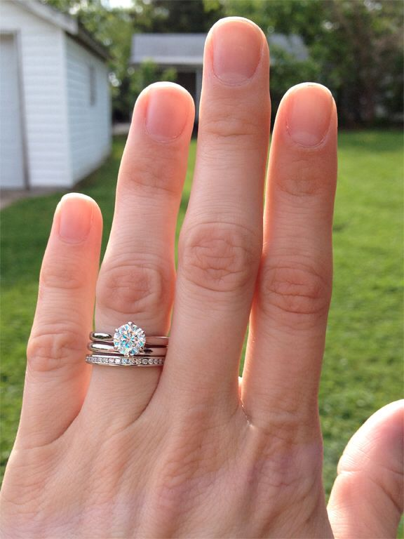 Wedding Band Spacer So She Doesn T Have A Oddly Curved Band