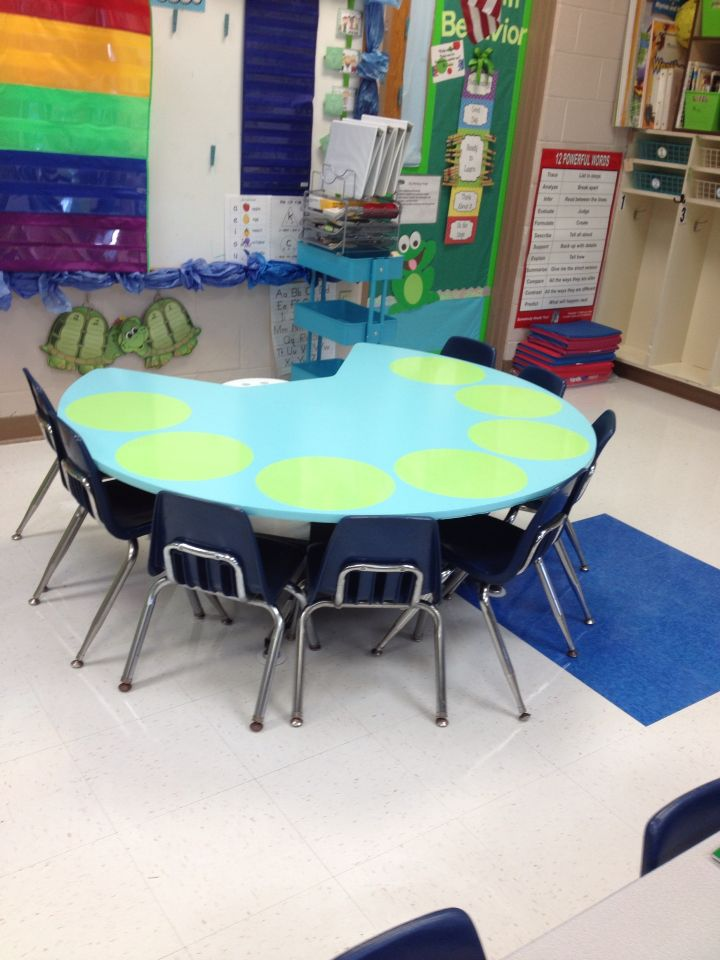 Repainted Kidney Table With Dry Erase Wall Pop Stickers Perfect