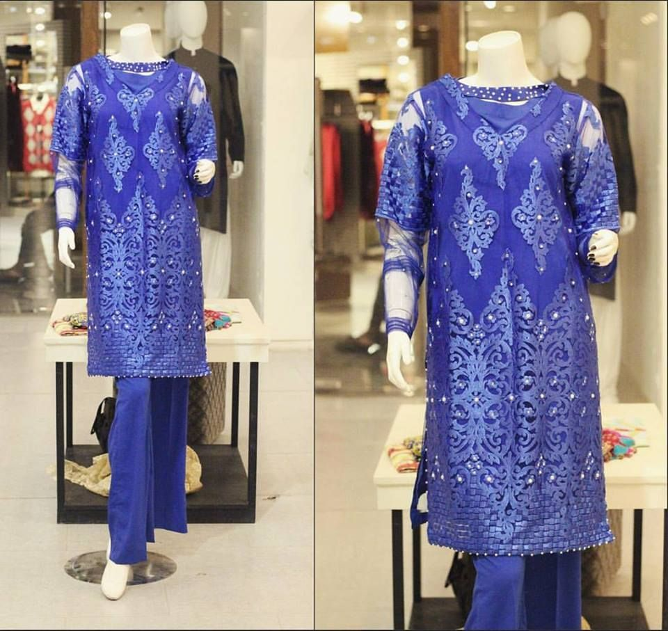 e11d976592fc Zahra Ahmad New Party Wear Winter Dresses For Girls 2017-2018 ...