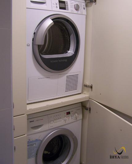 Camasir Oda Dolap Camasir Makine Ve Kurutma Makine Dolap Laundry
