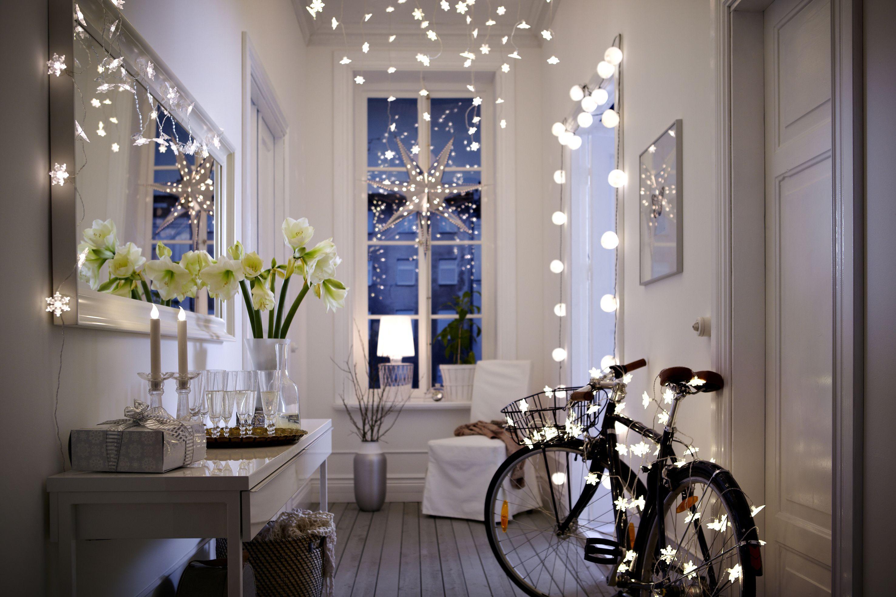 Ikea String Lights Mesmerizing Xmas Lighting With Ikea For The Home  Pinterest  Interiors Decorating Design