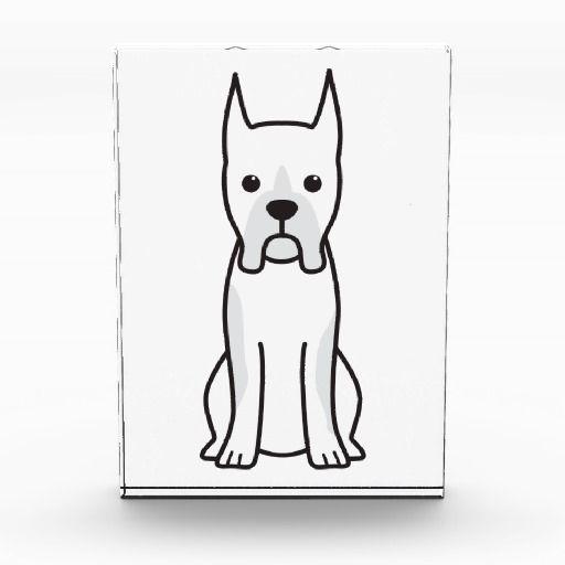 Boxer Dog Cartoon Award Zazzle Com Art Pinterest Cartoon Dog