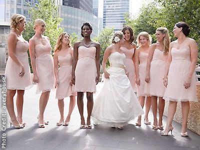 Pale pink bridesmaid dresses images